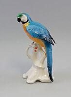 Porzellanfigur Vogel Ens großer Papagei türkisblau/gelb H25cm 9941747