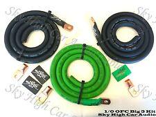 Sky High Oversized 1/0 Gauge OFC AWG Big 3 Upgrade GREEN/BLACK Electrical Wiring