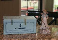 New Lladro Girl w/Broom or Mop and Cats Playful Kittens #5232 Original Box