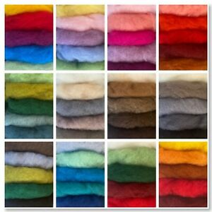 50G Needle Felting Wool Carded Wool Packs 50G