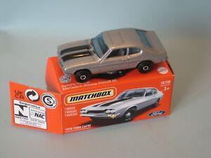 NEW Matchbox 1970 Ford Capri Silver Body Toy Model Car 70mm in USA Box HTF.