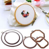 Wooden Cross Stitch Machine Embroidery Hoop Ring Hand Sewing DIY Craft