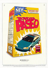 1996 Toyota Paseo Cereal Box Original Advertisement Car Print Ad J510