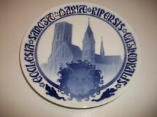 "Bing And Grondahl Plate 1908 Ribe Cathedral Restoration 9""Dia. Cm#28"