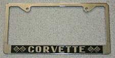 NEW! CORVETTE License Plate Frame Fits 1956 to Current US Plates Chevy Chevrolet