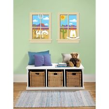 COWBOY WINDOWS GiaNT WALL DECALS Baby Nursery Stickers Boys Western Decor
