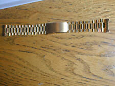 New Old Stock Gold President OYSTER Watch Band-LeJour 19MM Curved End