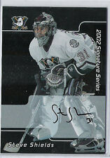 2001-02 BE A PLAYER SIGNATURE SERIES STEVE SHIELDS AUTOGRAPH AUTO 173 BAP