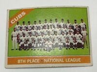 1966 Topps # 204 Chicago Cubs Team Baseball Card