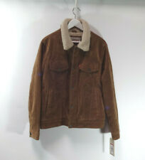 GENUINE Men's Levi's Brown Faux Suede Sherpa Lined Trucker Jacket S SMALL, WARM