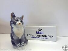 Royal Copenhagen Autocollants no.1803 - cat - Gris cat jouer - Royal Copenhagen