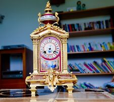 Japy Freres R & C  Porcelain and Ormolu Antique French Clock 1870