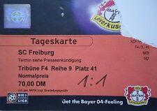 TICKET 90er Bayer 04 Leverkusen - SC Freiburg