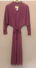 LONDON LOOK Vintage Art Deco Fuschia Pink Dolman Batwing Mesh Dress - S 10