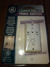 GE Convert Standard Wall Digital Countdown Timer Digital Switch 30 Min, White