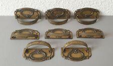 8 schöne original Jugendstil Schubladen Griffe / Beschläge aus Messing um 1910