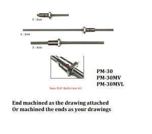 PM-30 , PM-30MV , PM-30MVL CNC conversion kit , double ball nut ball screws