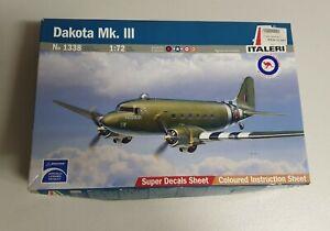Italeri No. 1338 | 1:72 Dakota Mk.III w/ QANTAS & RAN Decals