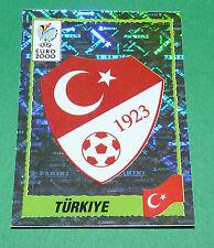 N°141 BADGE ECUSSON WAPPEN TURQUIE TÜRKIYE PANINI FOOTBALL UEFA EURO 2000