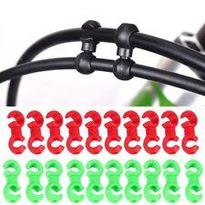 10 Piezas Plástico Bicicleta Bici Forma De S Cambio De Marchas Cable De Freno