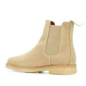Mens Suede Slip On Ankle Boots Chelsea High Top Leather Leisure Shoes Fashion