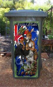 Aussie mates wheelie bin sticker