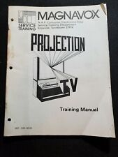Orignal Magnavox Service Training Manual Projection TV MST 1049 881SB Vintage