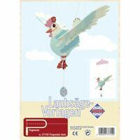 PEBARO Laubsägevorlage Mobilé fliegendes Huhn, Flugtier