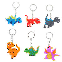 6pcs Cartoon Dinosaur Keychain Pendant Keyring Dinosaur Party Decor Kids Gift DS