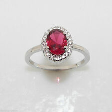 Unbranded Cluster Ruby Fine Rings