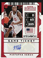 Mustapha Heron RC Auto 2020-21 Contenders Draft Game Ticket SP Red Parallel #111