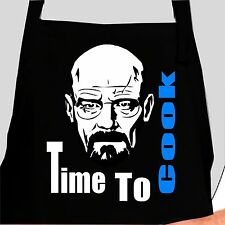WALTER WHITE APRON - TIME TO COOK - HEISENBERG BREAKING BAD FUNNY JOKE CHEF