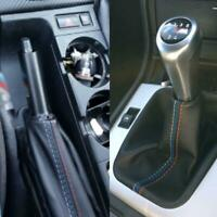 2Pc/Set Car Handbrake Gaiter Shift Boot Leather Boot For BMW 3 Series E36 E46 M3