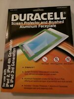 NEW DURACELL ~ SCREEN PROTECTOR AND BRUSHED ALUMINUM FACEPLATE IPAD MINI PINK