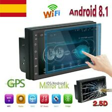 "Navegación GPS WiFi 7"" 2Din Quad Core Car Stereo Android 8.1 MP5 Player Radio FM"