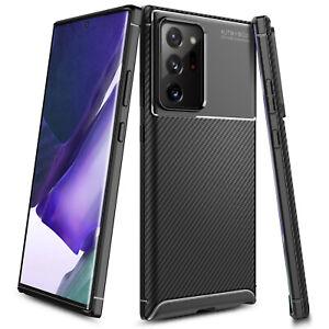 For Samsung Galaxy Note 20 / 20 Ultra 5G Case Carbon Fiber Slim TPU Phone Cover