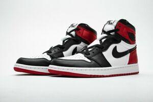 "Air Jordan 1 OG High OG ""Satin Black Toe"""