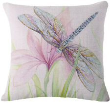 Insects Linen Pillow Case Throw Cushion Car Sofa Dragonfly Cushion Pillow Cover
