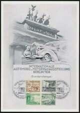 D.Reich große Anlasskarte IAA BERLIN 1938 mit Sonderstempel (54210)
