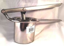 Deluxe Stainless Steel Potato Ricer / Masher Press With Changeable Disk