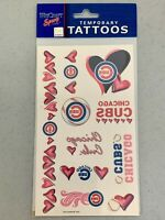 Chicago Cubs Temporary Tattoos Hearts 10 Pieces/Sheet Fan MLB Fan WinCraft NEW