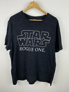 Star Wars Rogue One Mens T Shirt Size L Crew Neck Tee Black White Graphics Print