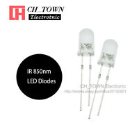 100pcs 5mm IR LED Diodes Water Clear Infrared 850nm Blub Transparent Lamp USA