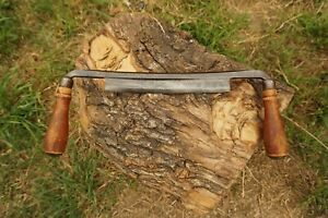 Vintage WORTH 8'' Draw Knife Log Peeler Woodworking Carving Timber Tool