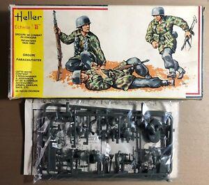 HELLER 117 - GROUPE PARACHUTISTES PARATROOPERS - 1/35 PLASTIC KIT