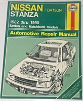 Haynes Nissan / Datsun Stanza 1982 thru 1990 Automotive Repair Manual #981