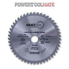 Trend CSB/CC21660 TCT Mitre Chop Saw Blade Crosscut - 216mm x 60T x 30mm