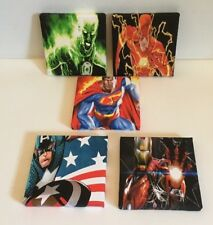11 Set Of These 5 Marvel & DC Super Hero Canvas Pictures