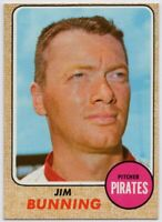 1968 Topps #215 Jim Bunning Near Mint Pittsburgh Pirates FREE SHIPPING