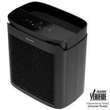 Honeywell Console Air Purifier Allergen Remover True HEPA 200 sq. ft. Black